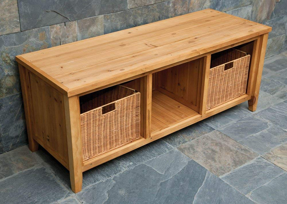 Picture of: Review Wooden Storage Bench
