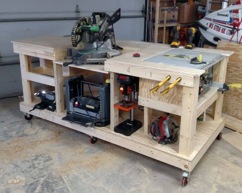 Picture of: Rolling Kids Wooden Tool Bench