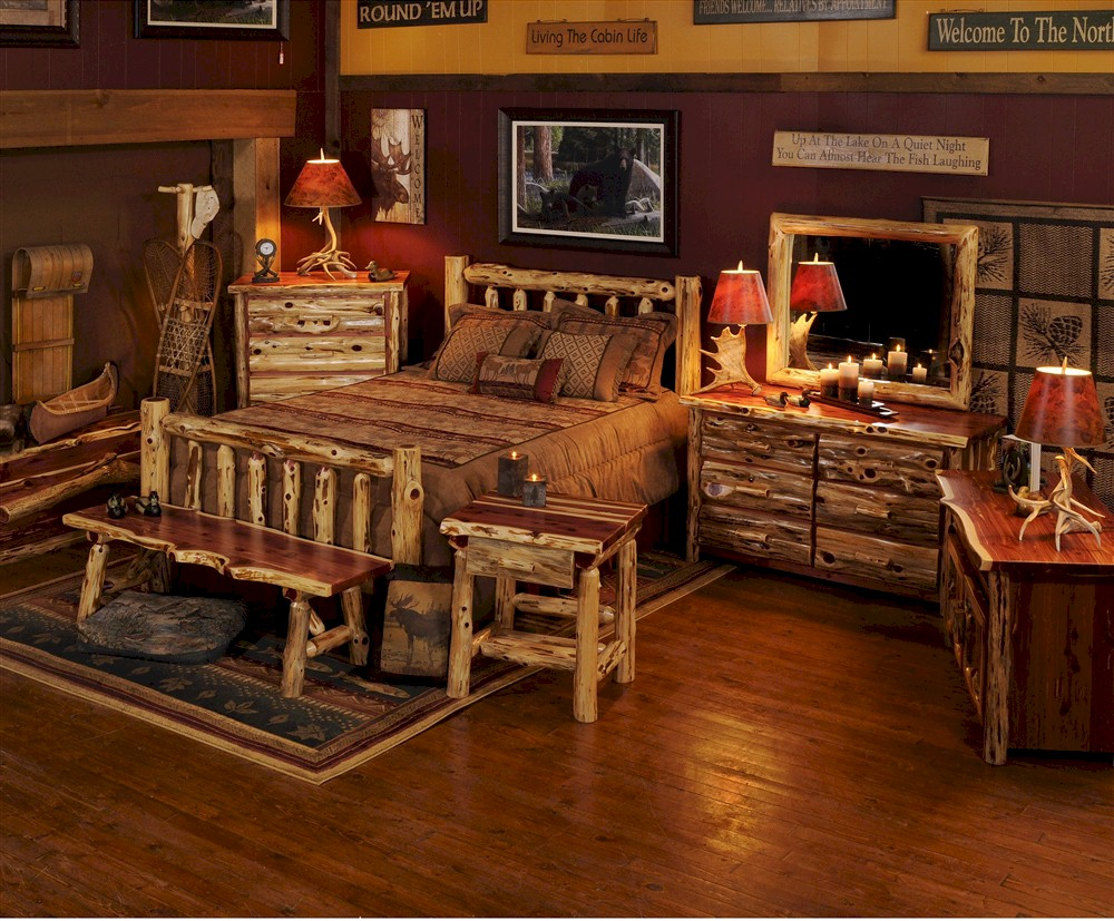 Romantic Log Bedroom Sets