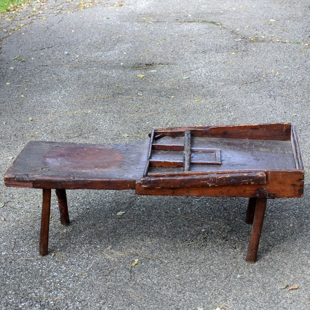 Picture of: Rustic Antique Wooden Bench