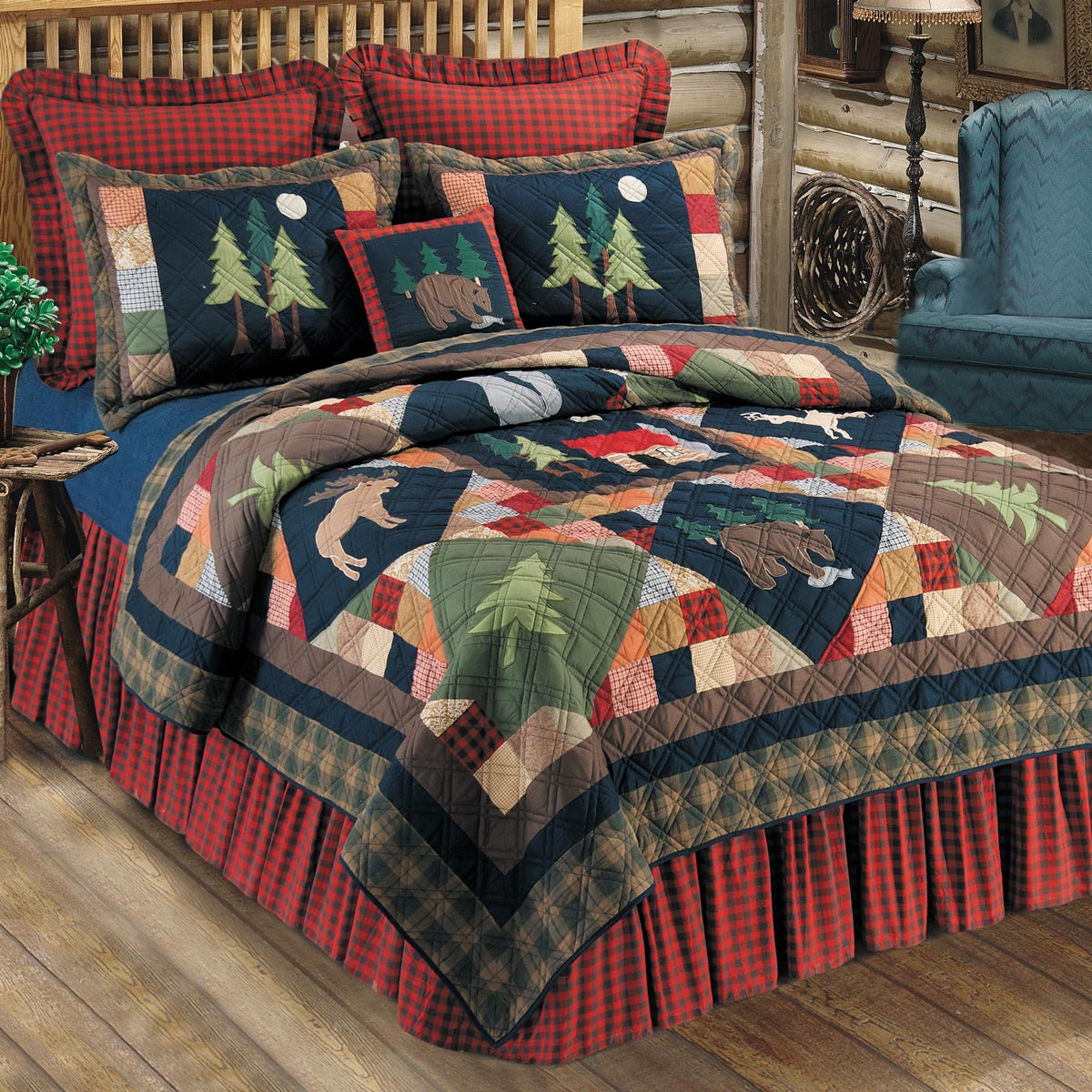 Picture of: Rustic Bedroom Set Color