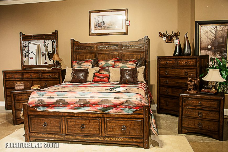 Image of: Rustic Country Bedroom Sets