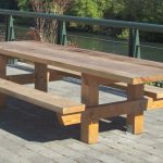 Rustic Wooden Picnic Bench
