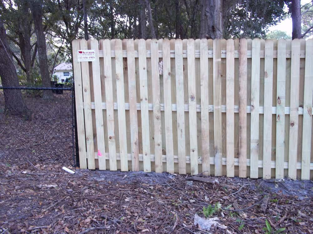Picture of: Shadow Box Wood Fence Designs