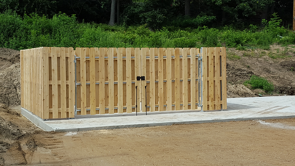 Picture of: Shadow Box Wood Fence Gate