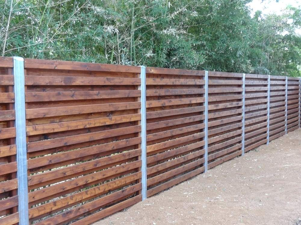 Picture of: Shadow Box Wood Fence Installation