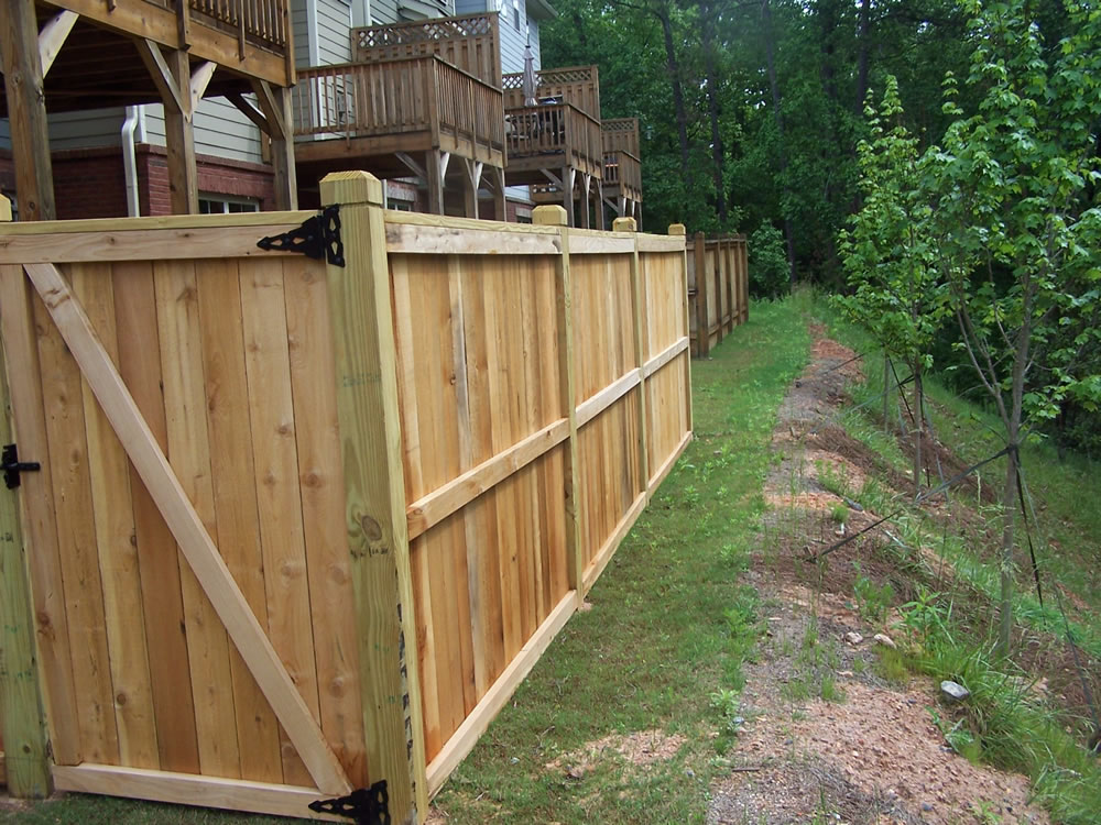 Picture of: Shadow Box Wood Fence Panels