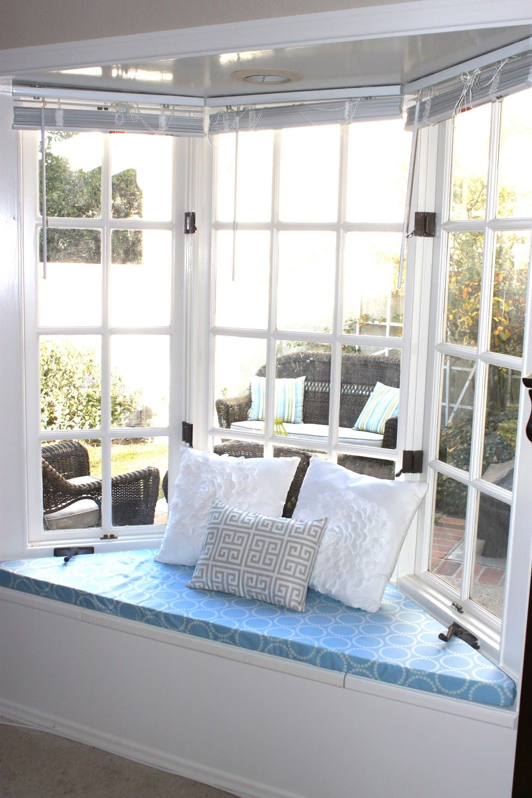 Image of: Shaped Window Bench Cushions
