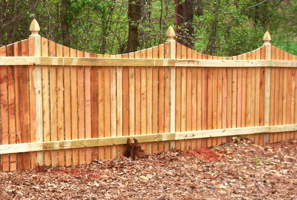 Picture of: Shaped Wood Fence Stain Colors