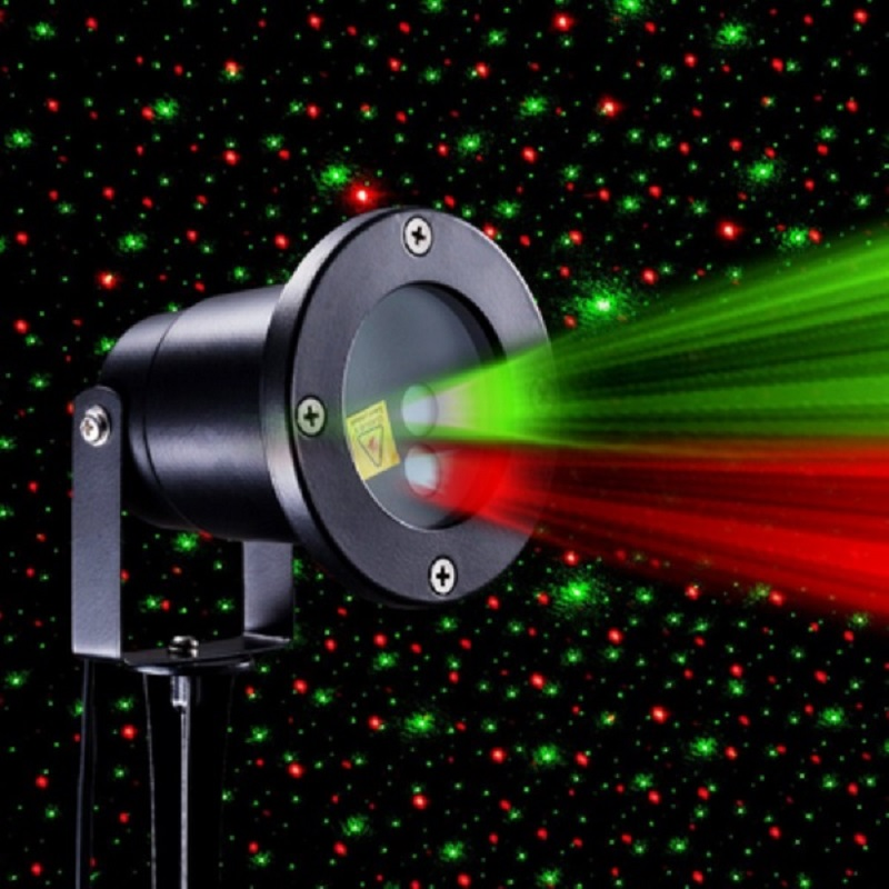 Picture of: Shower Outdoor Christmas Laser Lights