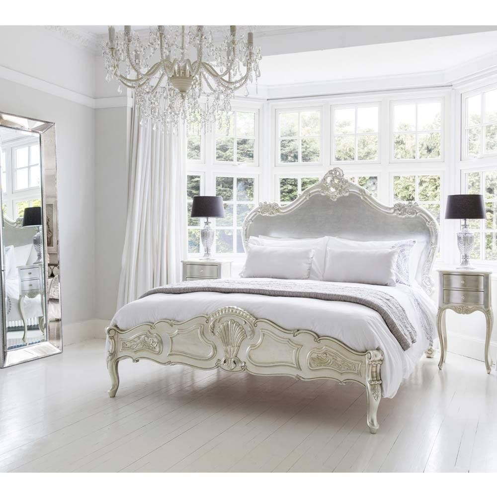 Image of: Silver French Bedroom Set