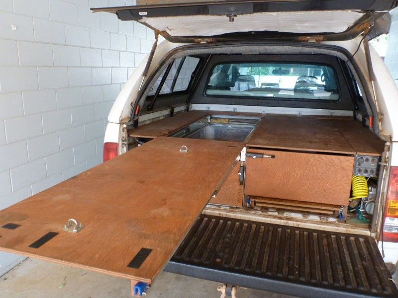 Simple Decked Truck Bed Storage