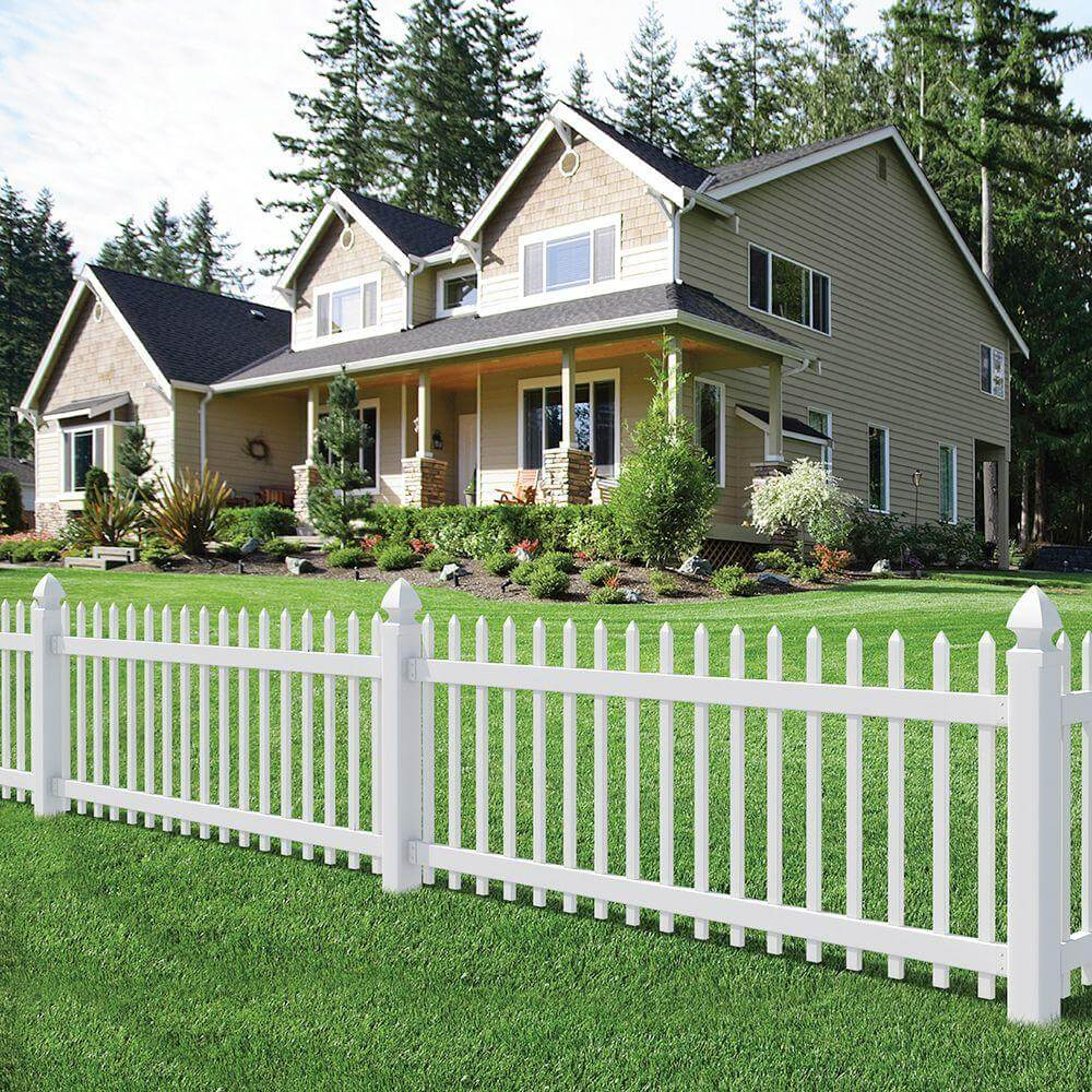 Picture of: Simple Home Fence Ideas