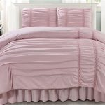 Simple Pink Twin Comforter Set
