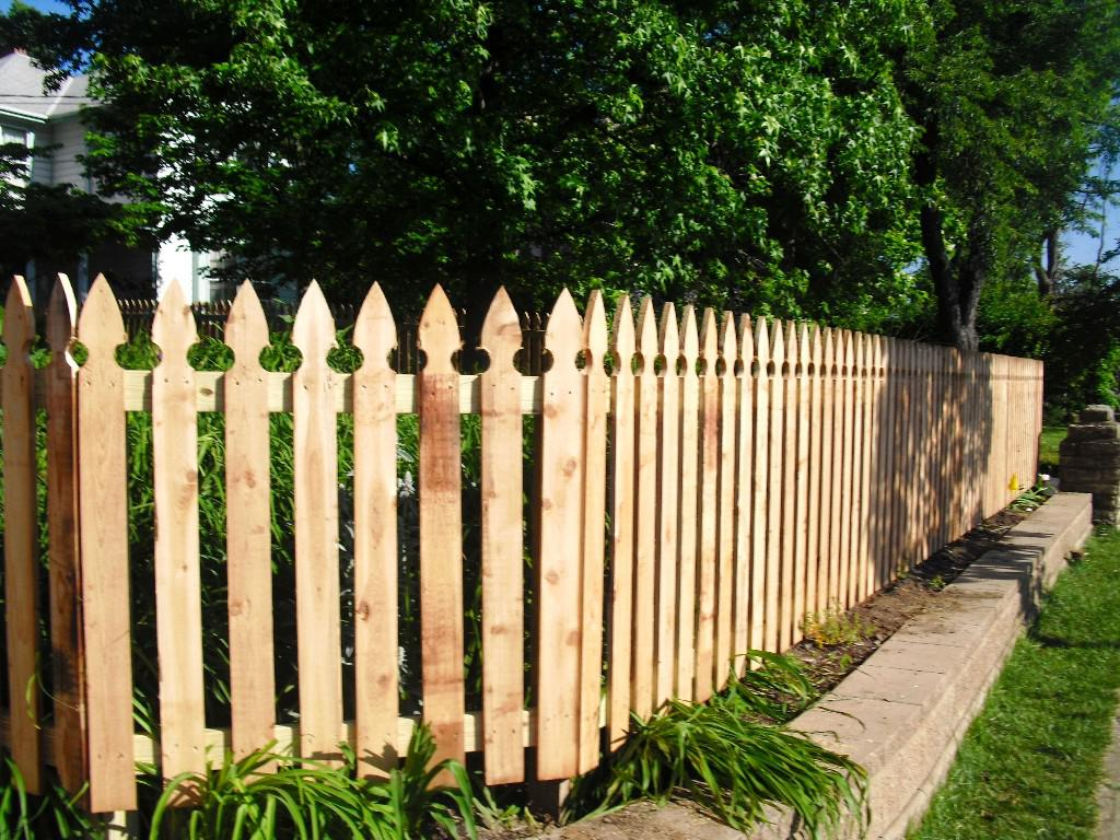 Simple Wood Fence Pickets