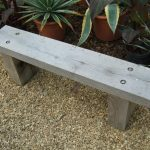 Simple Wooden Bench Gray