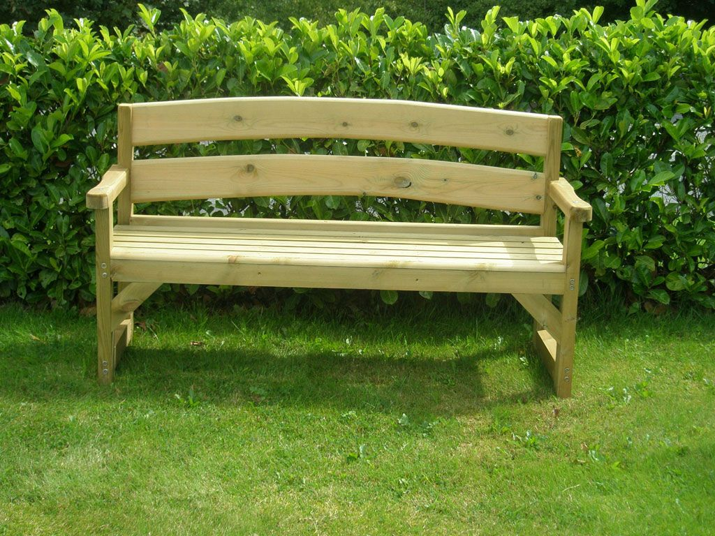 Picture of: Simple Wooden Benches For Outside
