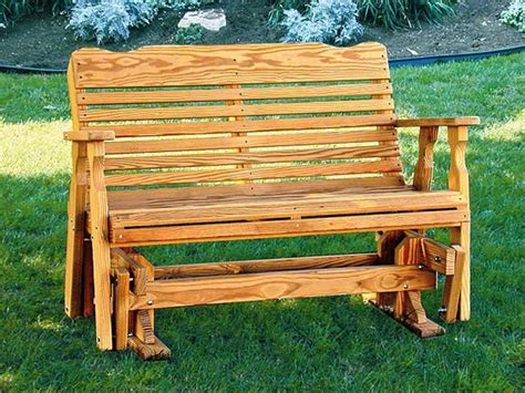 Picture of: Simple Wooden Glider Bench