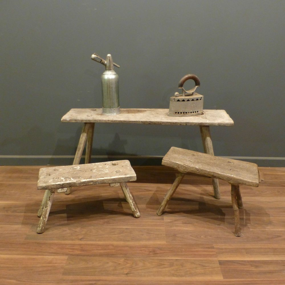 Picture of: Small Antique Wooden Bench