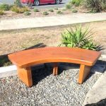 Small Curved Wooden Bench