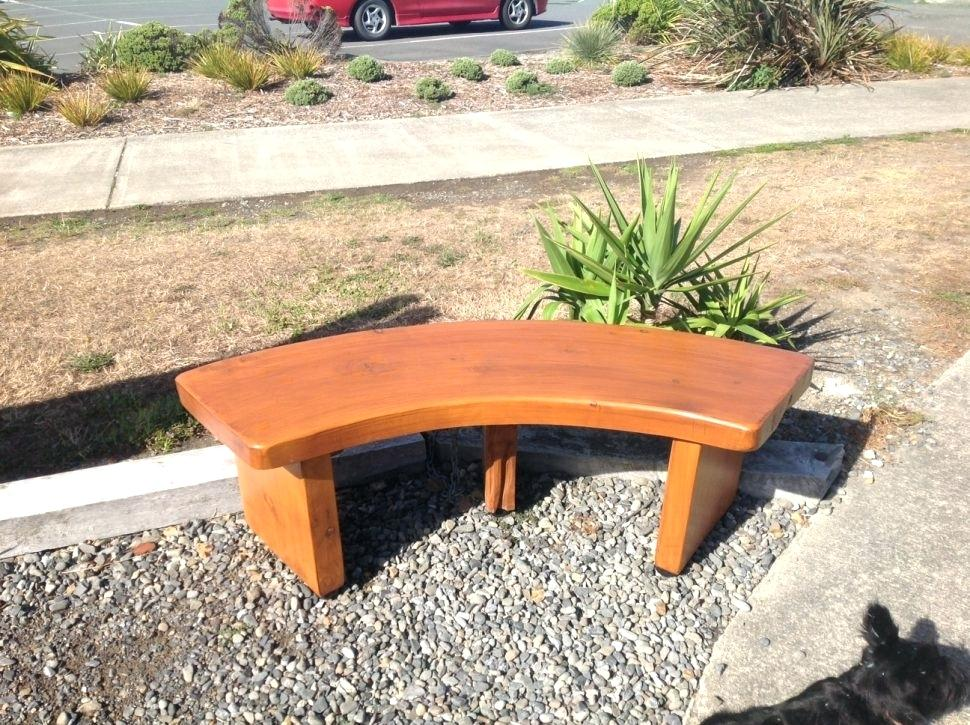 Picture of: Small Curved Wooden Bench