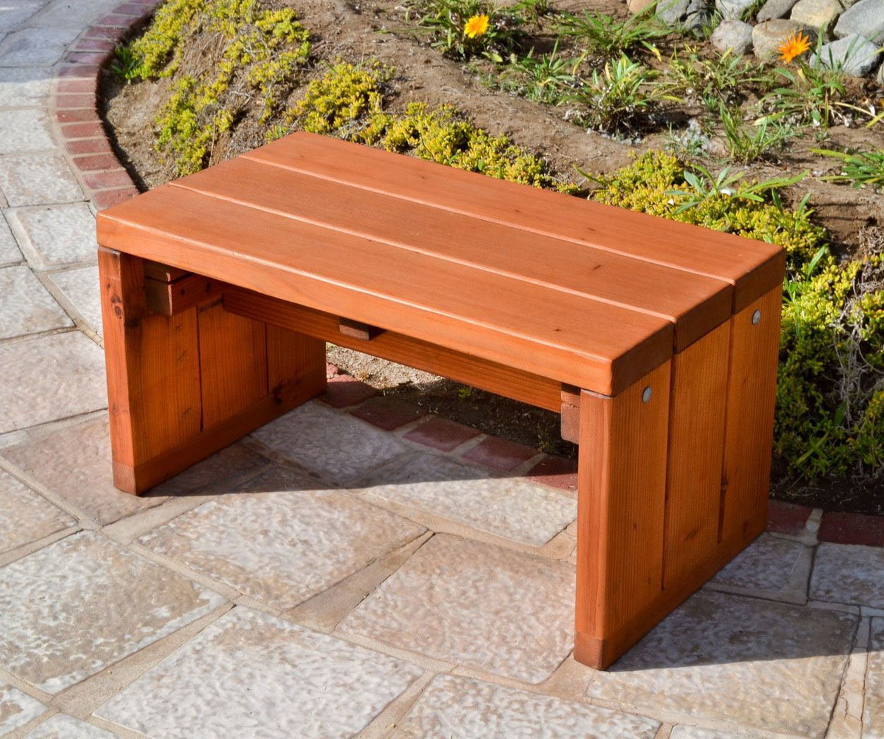 Picture of: Small Wooden Bench Pros
