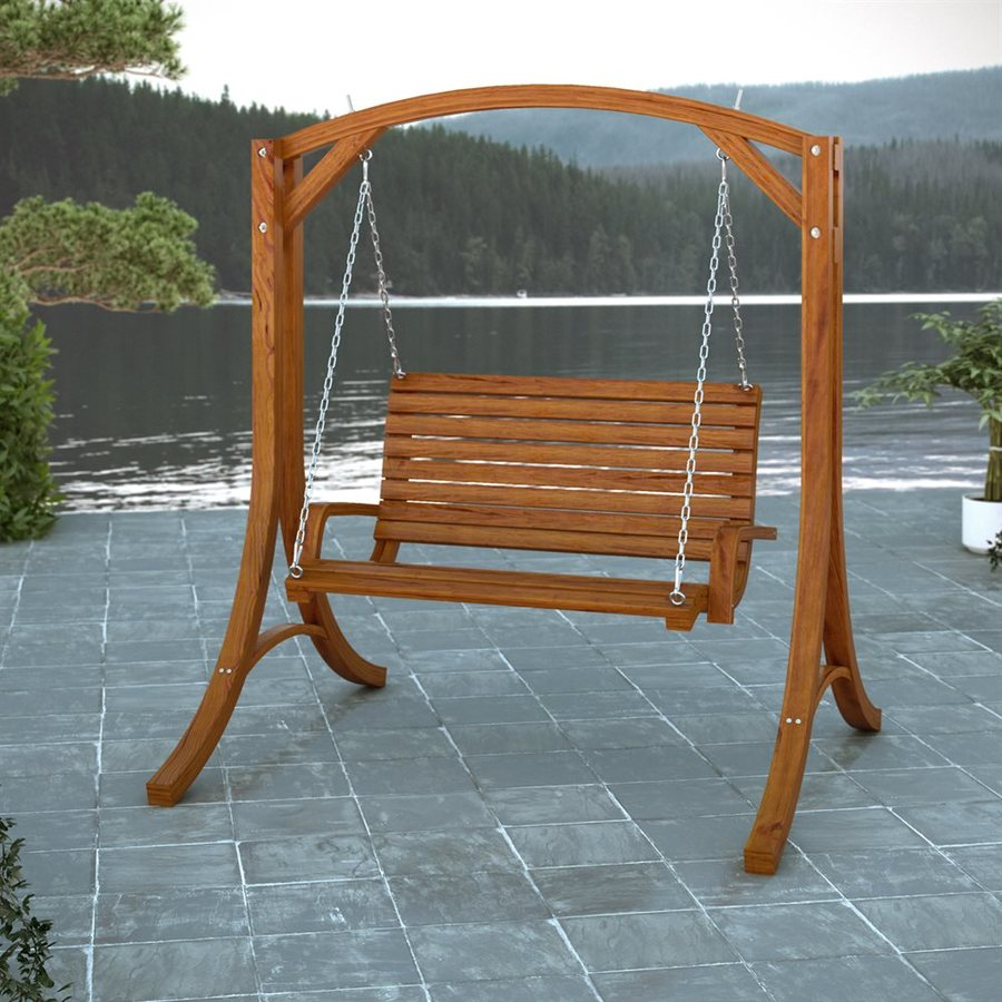 Picture of: Small Wooden Bench Swing