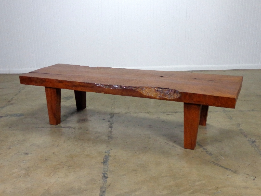 Picture of: Small Wooden Bench without Back