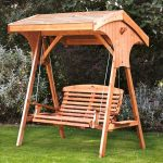 Small Wooden Swing Bench