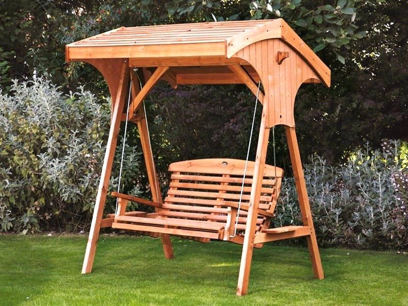 Picture of: Small Wooden Swing Bench