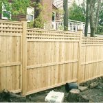 Solid Wood Fence Images