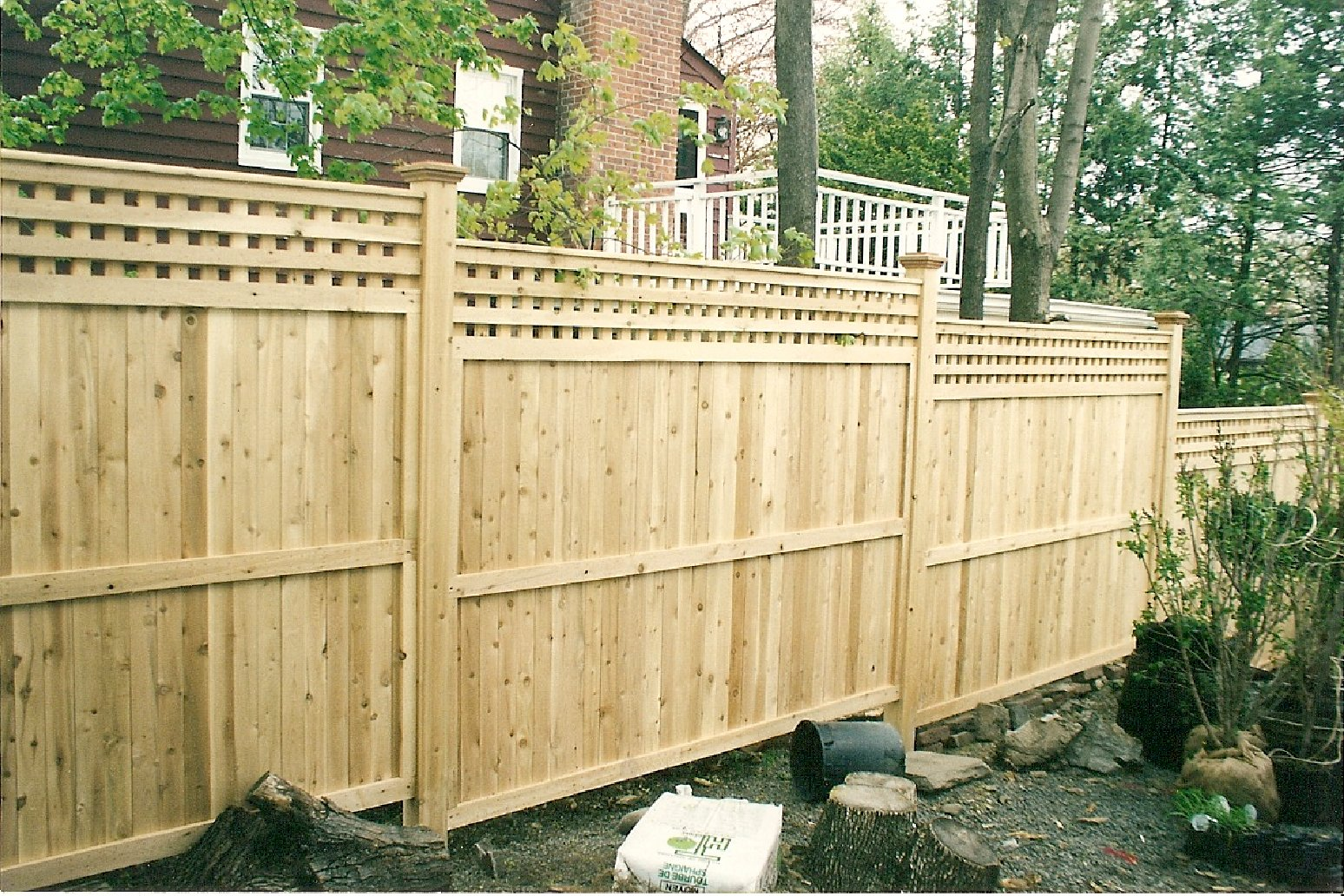 Picture of: Solid Wood Fence Images