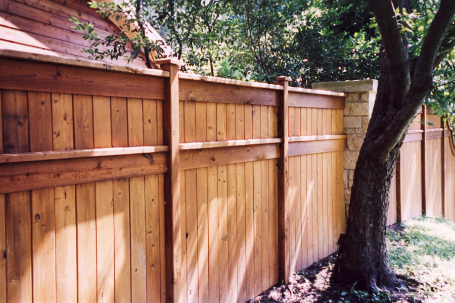 Picture of: Solid Wood Fence Styles