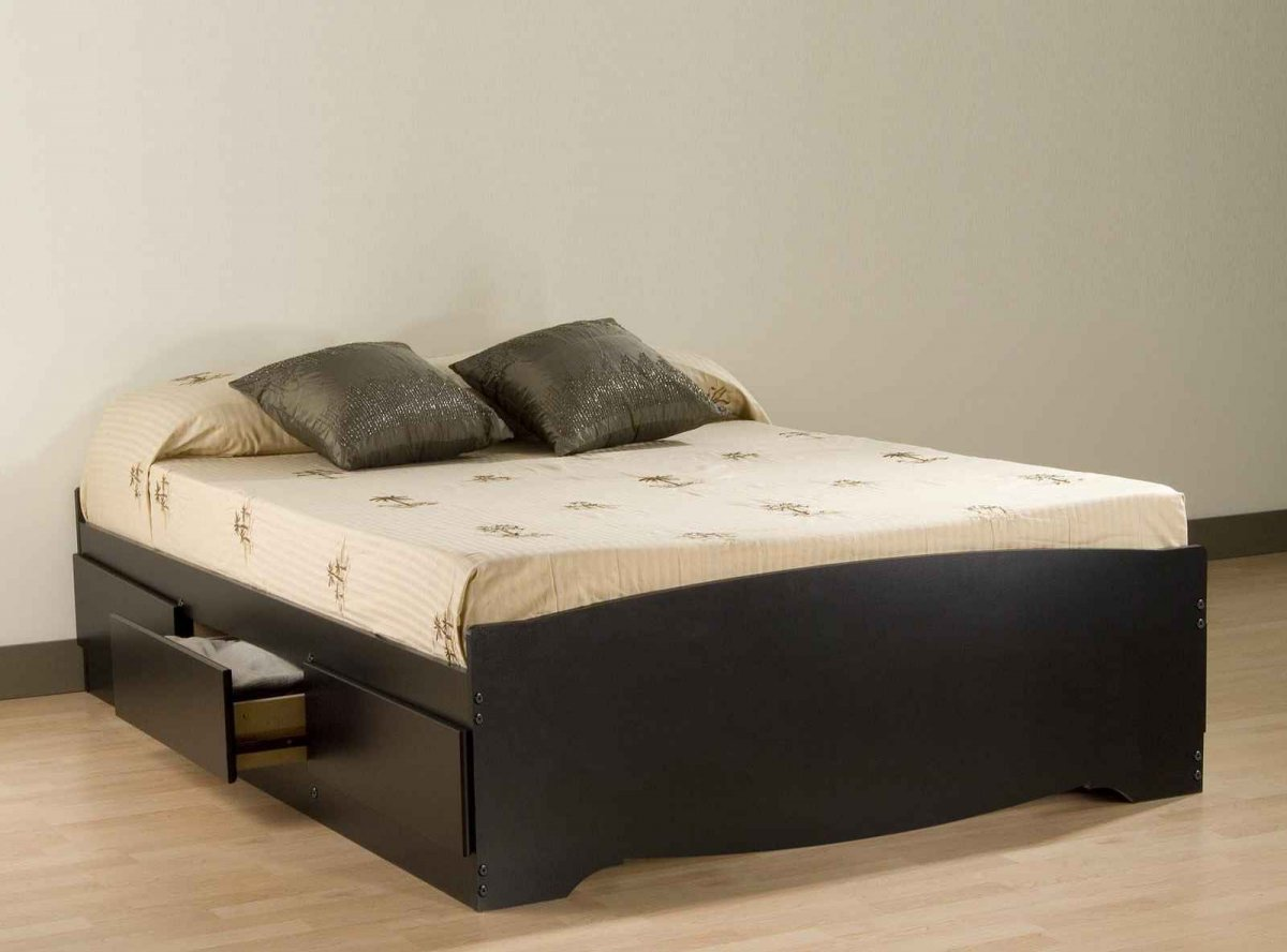 Image of: Solid Wood Storage Bed Design Ideas