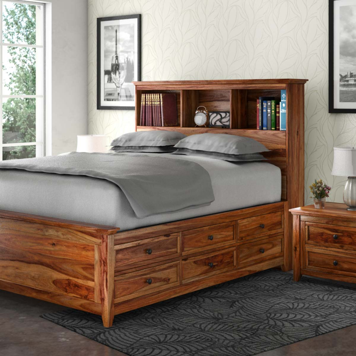 Picture of: Solid Wood Storage Bed Ideas