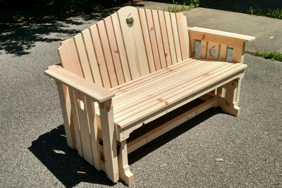 Picture of: Solid Wooden Porch Bench