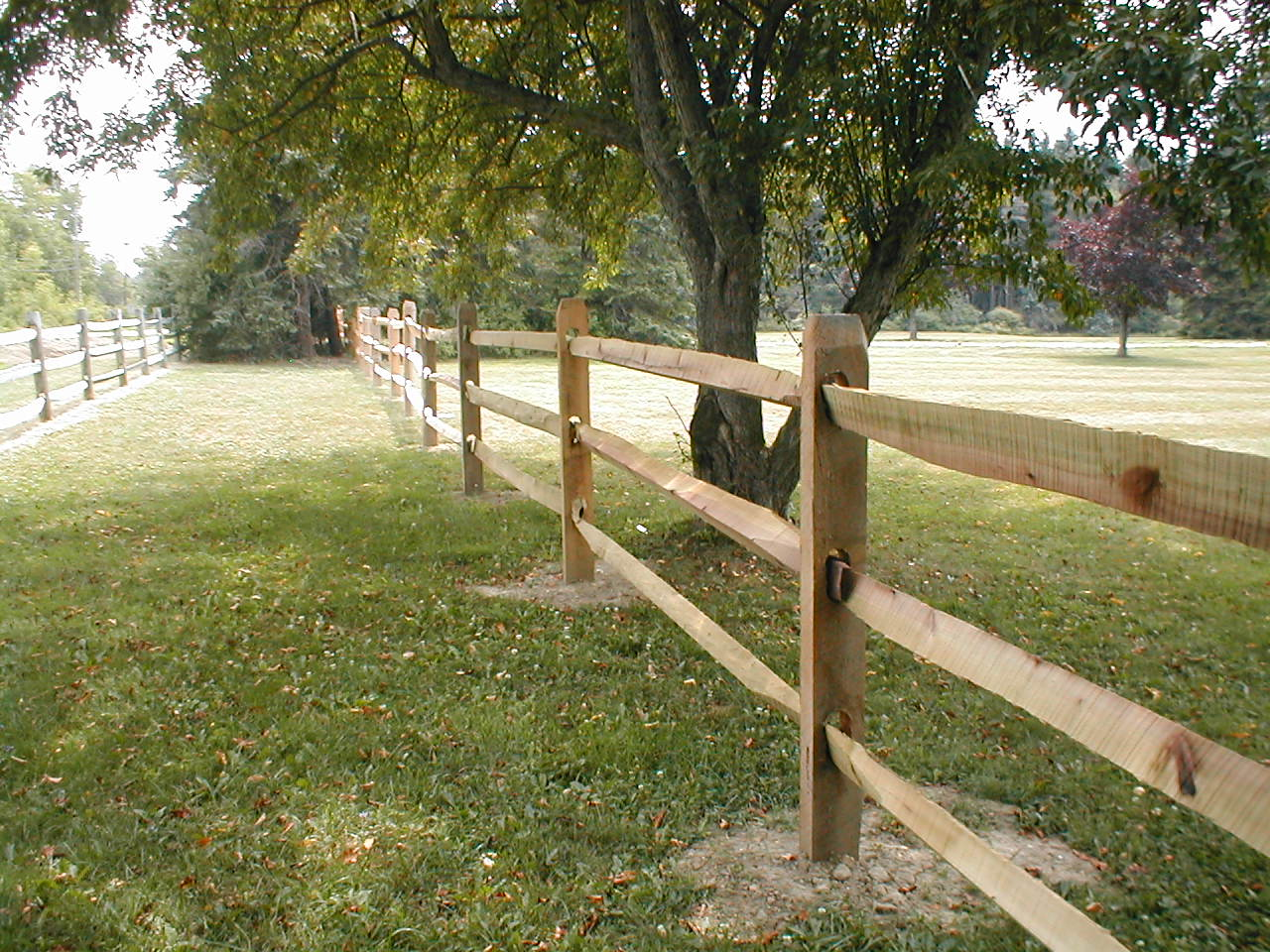 Split 3 Rail Wood Fence