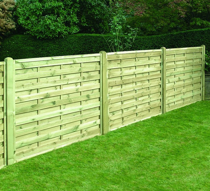 Picture of: Square Horizontal Fence Panels