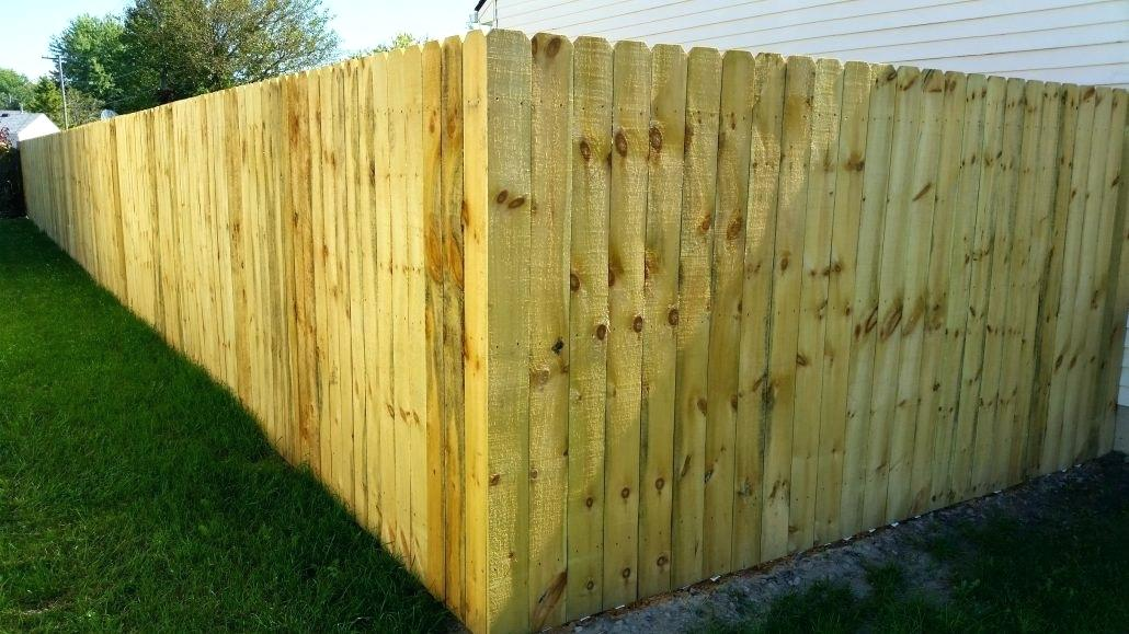 Picture of: Staining A Treated Wood Fence
