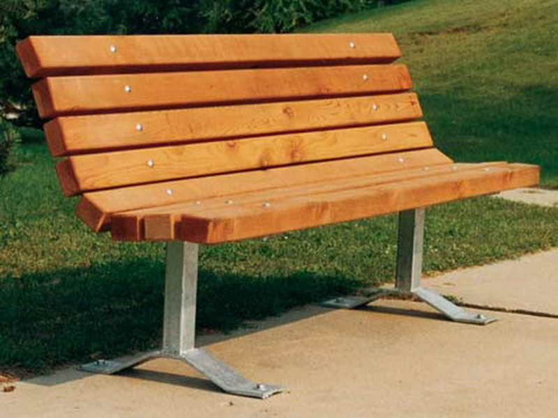 Picture of: Stand Curved Wooden Bench
