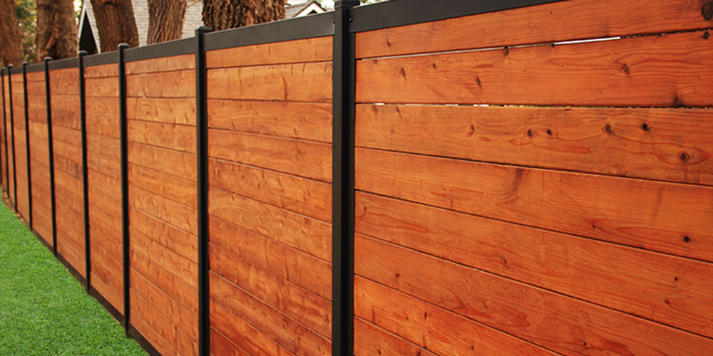 Picture of: Steel Post for Wood Fence Features