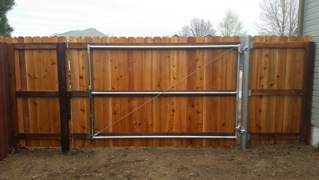 Picture of: Steel Post for Wood Fence Gates