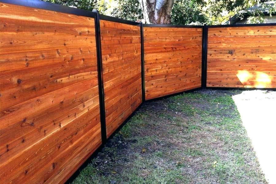 Picture of: Steel Post for Wood Fence Home