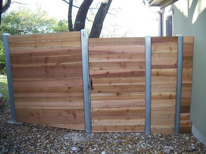 Picture of: Steel Post for Wood Fence Small