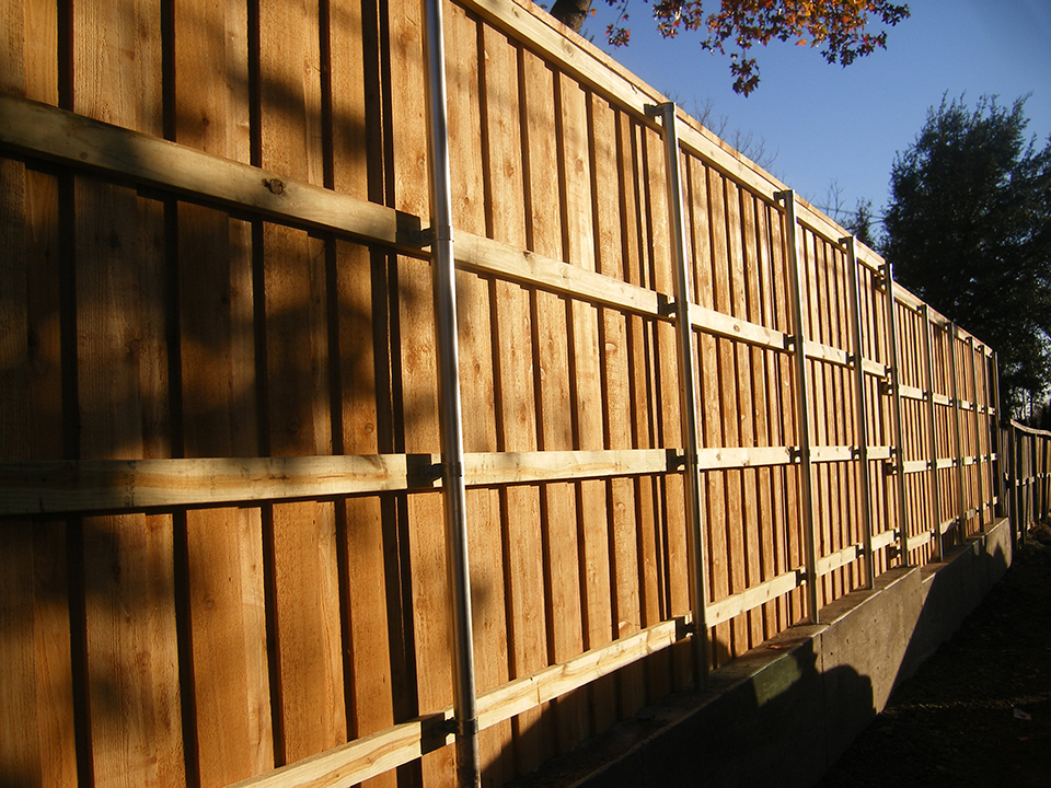 Picture of: Steel Post for Wood Fence Style