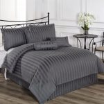 Striped Grey Comforter Sets Full