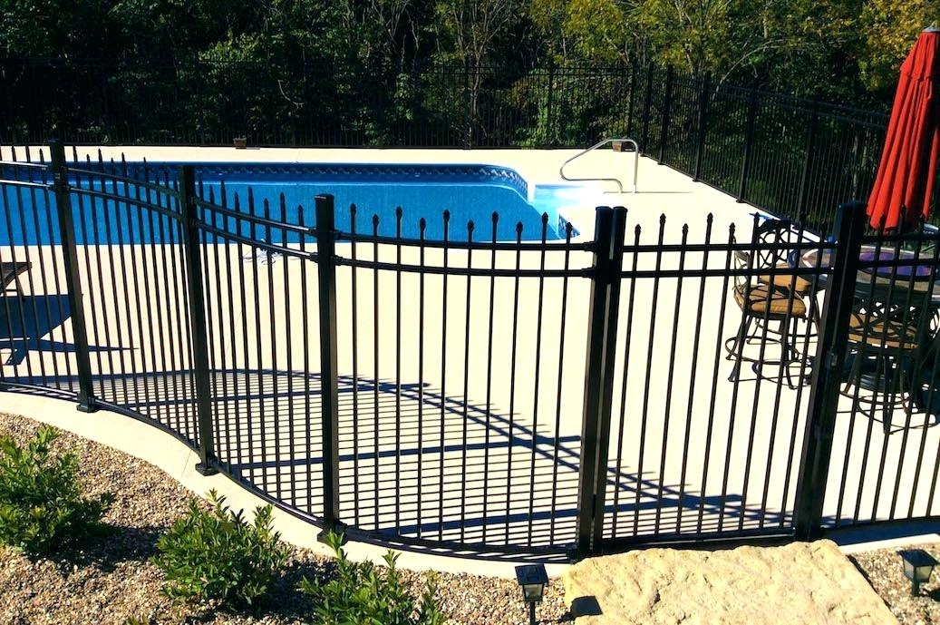 Stylish Metal Pool Fence
