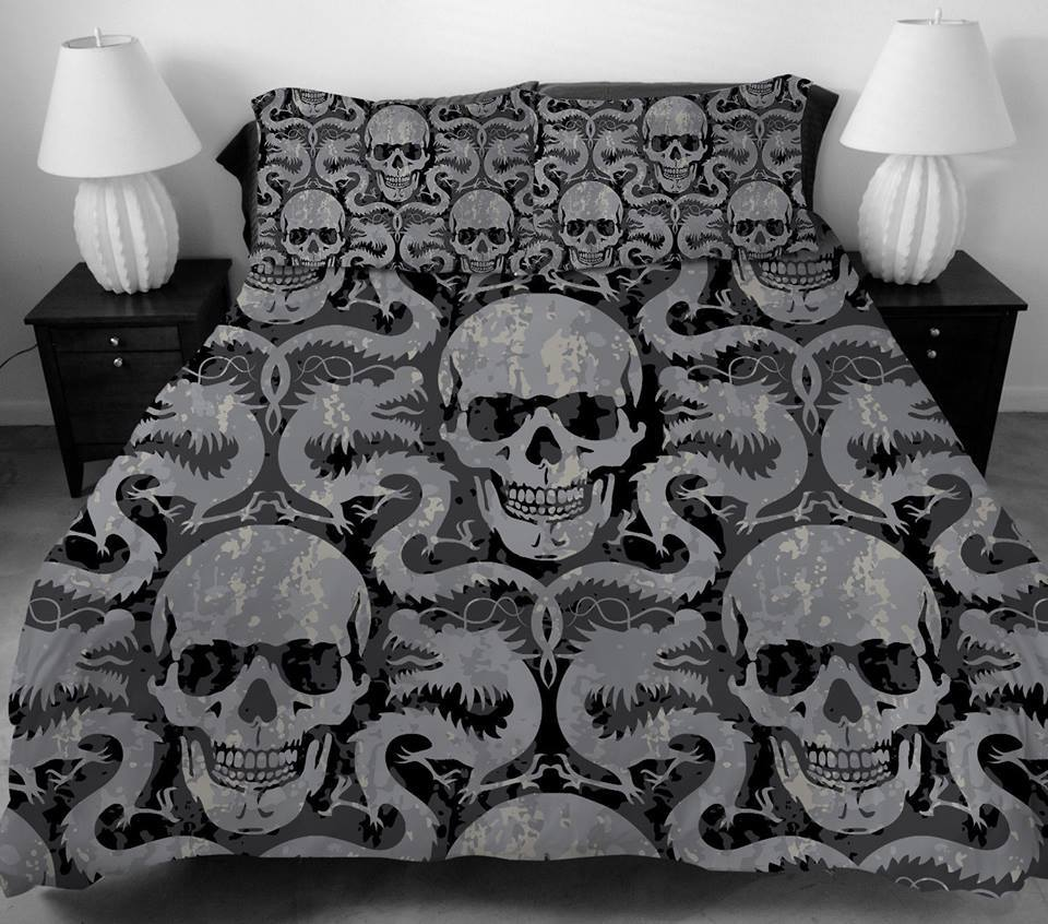 Picture of: Sugar Skull Bed Set King