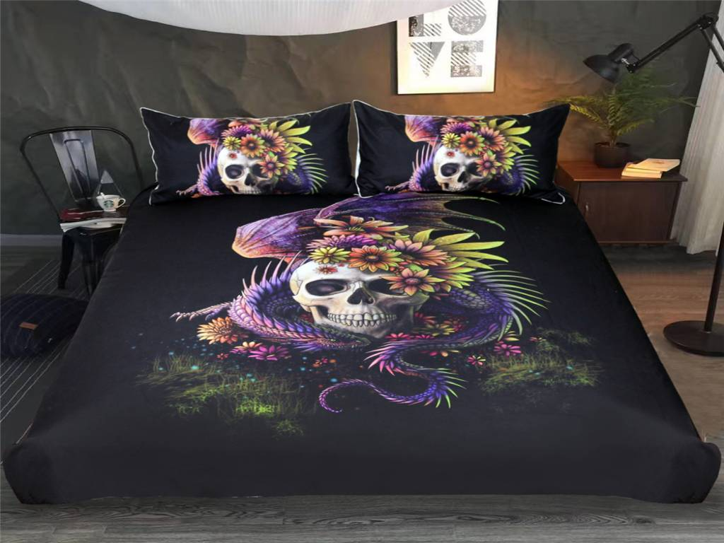 Skull Bedding Sets Queen In The House