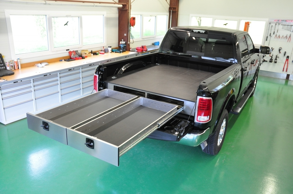 Image of: System Truck Bed Storage Drawers